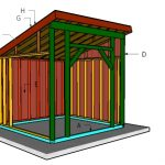 10×10 Run in Shed Roof Plans