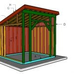 12×12 Run in Shed Roof Plans
