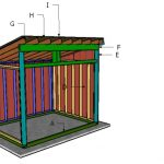8×10 Run in Shed Roof Plans