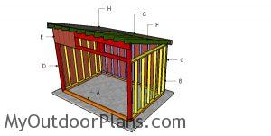 Building a 8x12 run in shed
