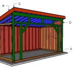 8×16 Run in Horse Shelter Roof Plans
