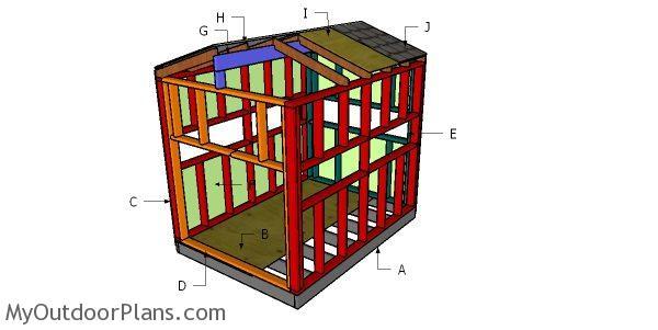 6x8 Deer Stand Roof Plans Myoutdoorplans Free