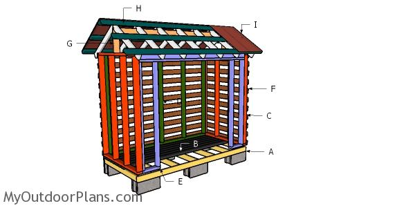 2x4 Firewood Shed Roof Plans