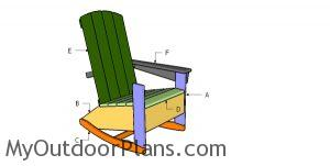 Building a rocking adirondack chair