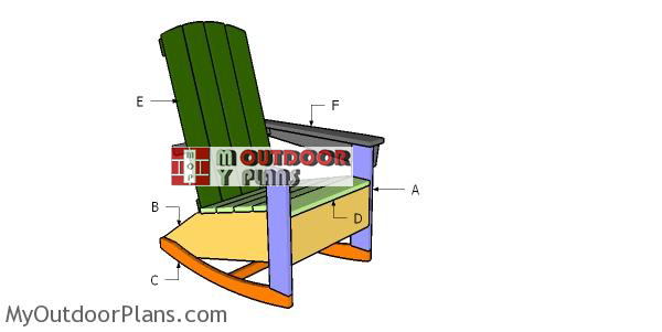 Building-a-rocking-adirondack-chair