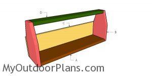 Building a wooden chicken feeder