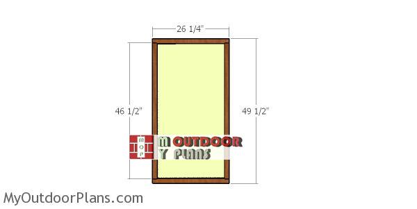 Building-the-door-for-deer-blind