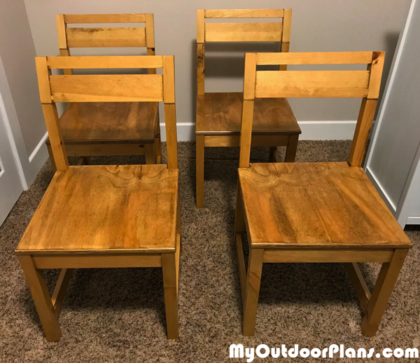 DIY Modern Angle Kitchen Chairs