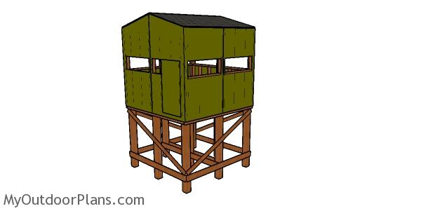 Elevated 8x8 Deer Stand Plans