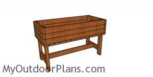 Elevated Planter Box made from 2x4s Plans