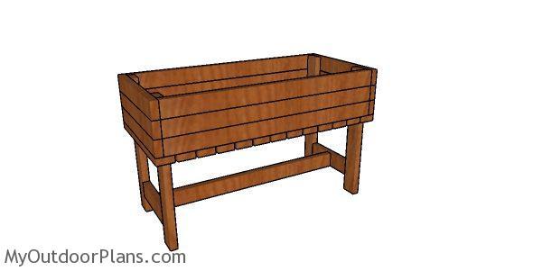Planter Box from 2x4 Plans | MyOutdoorPlans | Free ...  |Box Sturdy Made Parkour Plans