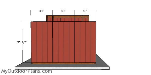 Fitting the back wall siding panels