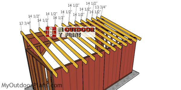 Fitting-the-rafters-to-8x16-lean-to-shed