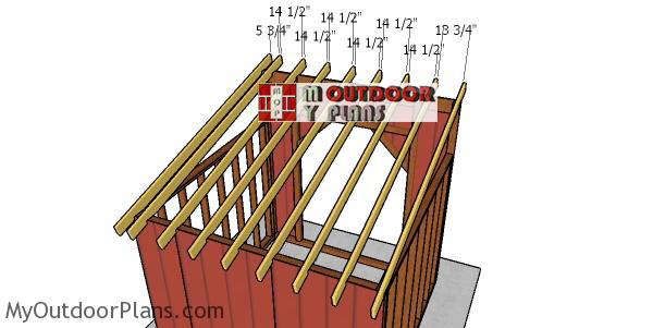 Fitting-the-rafters-to-the-10x10-run-in-shed