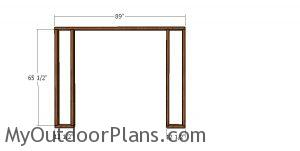 Front shed wall frame