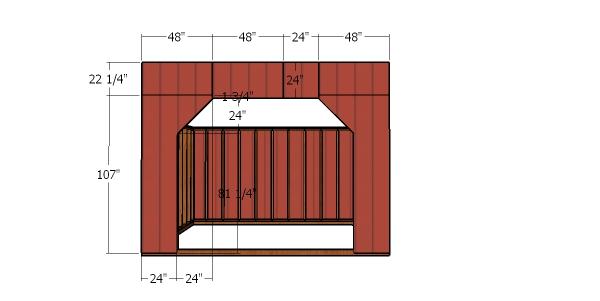Front siding panels