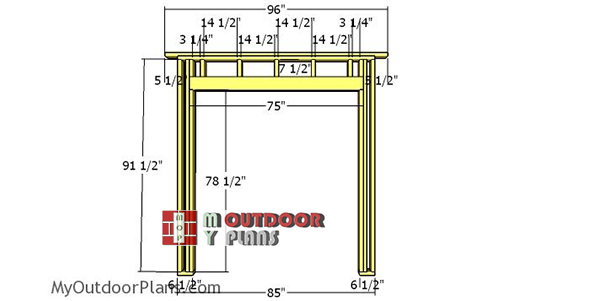 Front-wall-frame-8x10-shed