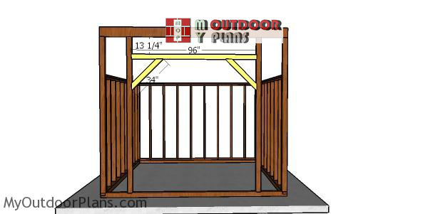 Front-wall-supports---12x12-run-in-shed