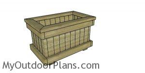 Garden planter box from 2x4 plans