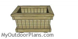 Planter box from 2x4 lumber plans