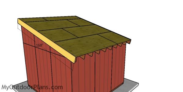 Side roof trims for 12x12 run in shed