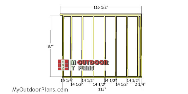 Side-wall-frame---10x10-run-in-shed