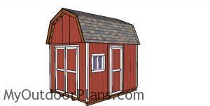 10x12 Gambrel Shed - Free DIY Plans