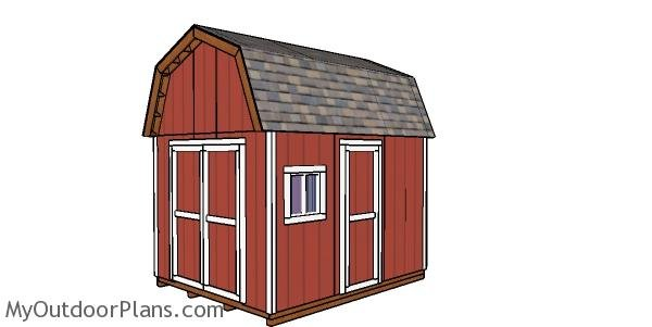 10x12 Gambrel Shed - Free DIY Plans
