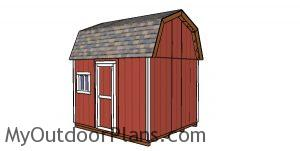 10x12 Gambrel Shed - back view