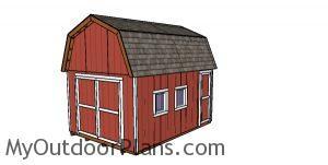 12x16 Gambrel Shed - Free DIY Plans