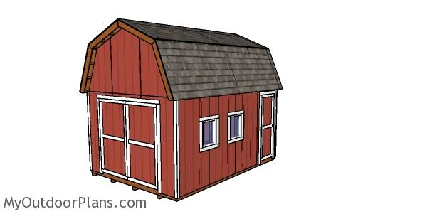 12x16 Gambrel Shed - Free DIY Plans