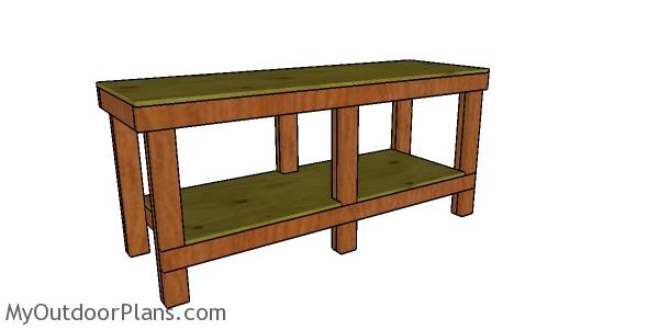 2x4 6 ft Workbench Plans