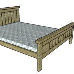2×4 Full size Bed Frame Plans