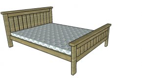2×4 Full size Bed Frame Plans