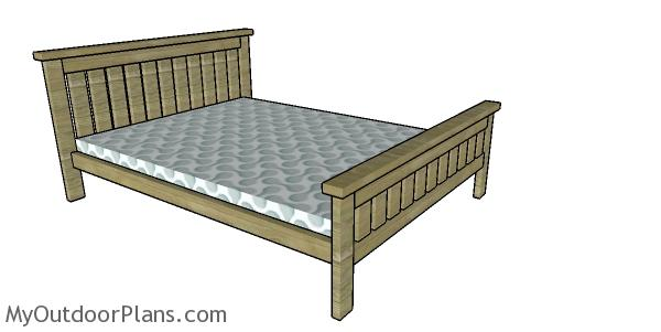 2x4 Full size Bed Frame Plans