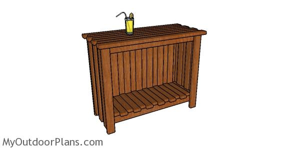 2x4 Outdoor Bar Plans