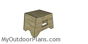 2x4 Outdoor Side Table Plans