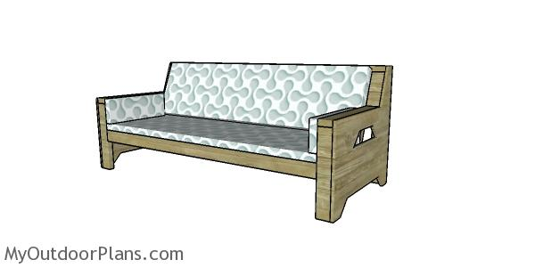 2x4 Outdoor Sofa Plans