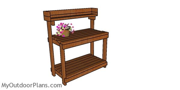 2x4 Potting Bench Plans