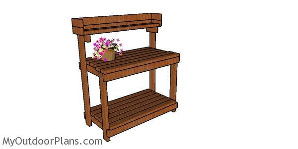 2x4 Potting Bench Plans