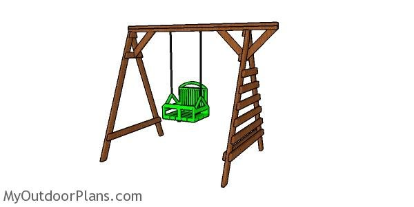 2x4 Toddler swing set plans