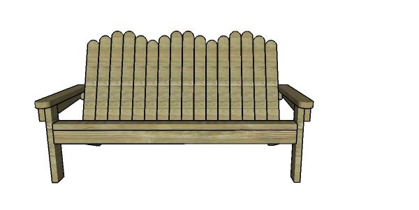 2x4 adirondack bench plans