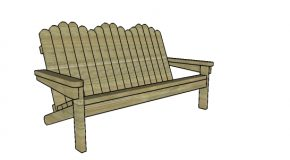 2×4 Adirondack Bench Plans