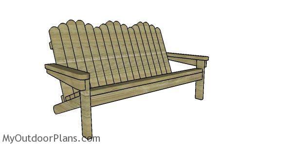 2x4 Adirondack Bench Plans Myoutdoorplans Free