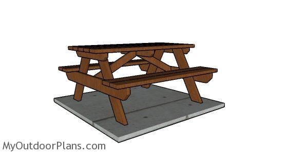 5 Foot Picnic Table Plans Myoutdoorplans Free Woodworking And Projects Diy Shed Wooden Playhouse Pergola Bbq