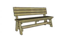 5 ft Bench with Back Plans