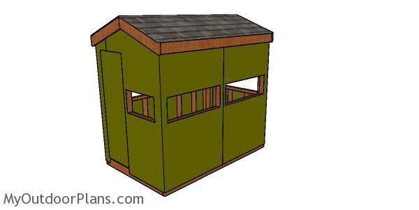 5x8 Hunting Blind Plans