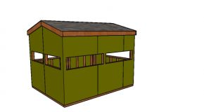 8×10 Large Deer Hunting Blind Plans
