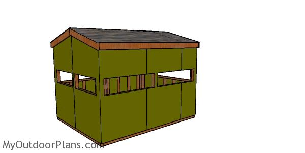 8x10 Large Deer Hunting Blind Plans