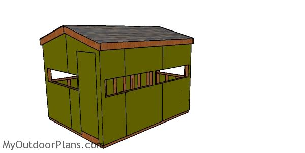 8x10 Deer Stand Plans